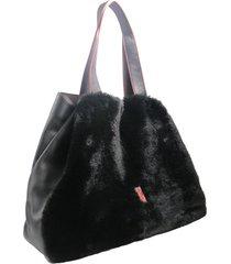 bolso negro leblu peluche