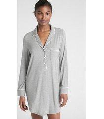 camisa de dormir mujer gris gap