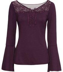 maglia con pizzo (viola) - bodyflirt boutique