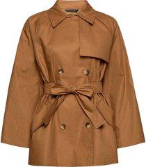 slchicago short trenchcoat trench coat rock brun soaked in luxury