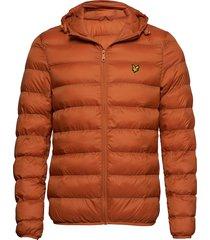 lightweight puffer jacket gevoerd jack oranje lyle & scott