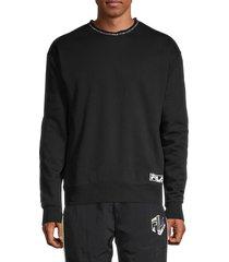 fila men's bobbi logo sweatshirt - black - size xl