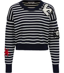 alexander mcqueen striped sweater with patch details