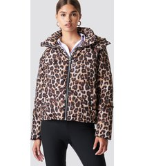 na-kd leo printed padded jacket - multicolor