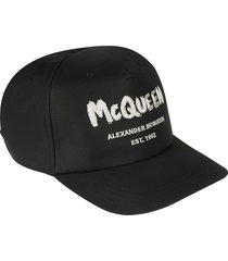 alexander mcqueen logo graffiti cap