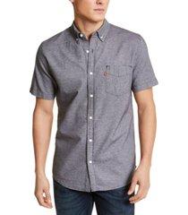 levi's men's chambray button-down shirt