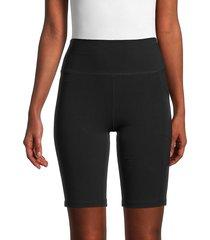 calvin klein women's high-rise logo bike shorts - black - size l