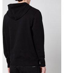 belstaff men's 1924 pullover hoodie - black/white - xxl