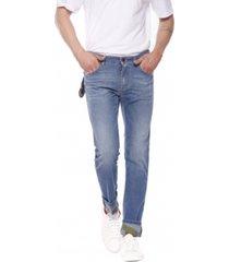 jeans souple brut délavé bouton rouge harris camouflage