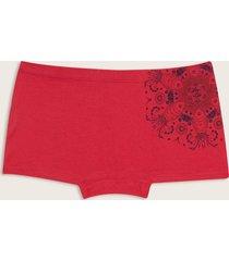 panty estilo boxer estampado rojo rosado l