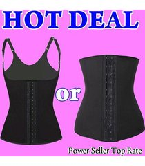 latex waist trainer cincher underbust vest girdle control corset bodyshaper belt