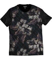 camiseta di nuevo casual florida azul havaiana preta