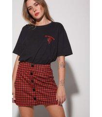 minifalda cuadros cherry skirt