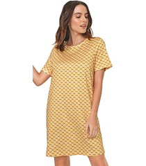 vestido my favorite thing(s) curto floral amarelo - kanui