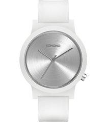 reloj analogo mono orbit white komono