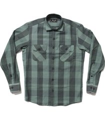 camisa leñadora verde lava grunge