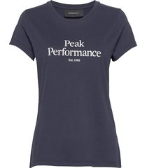 w original tee t-shirts & tops short-sleeved blå peak performance