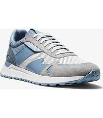 mk sneaker miles in materiale misto - chambray (blu) - michael kors