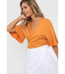 blusa naranja mancini renata