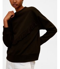 mango ruffled cotton sweatshirt