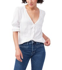paige carinne v-neck blouse, size large in white at nordstrom