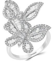 effy 14k white gold & diamond butterfly ring/size 7 - size 7