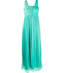 pinko draped chiffon gown - green