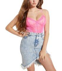 guess riza lace mesh bodysuit