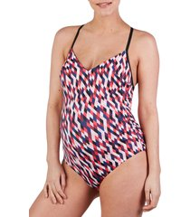 women's cache coeur venezia one-piece maternity swimsuit