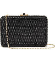 'slim slide' crystal pavé clutch