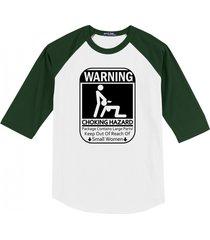 warning choking hazard funny t shirt rude sexual humor tee mens raglan t