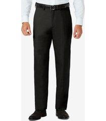 j.m. haggar sharkskin classic-fit flat front hidden expandable waistband dress pants
