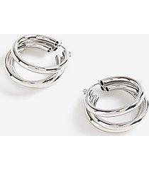 *3 tube hoop earrings - silver