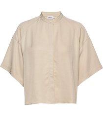 tammy shirt overhemd met korte mouwen beige filippa k