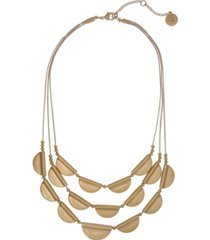 the sak gold-tone castings 3 row necklace
