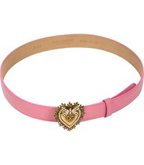 heart logo plaque belt