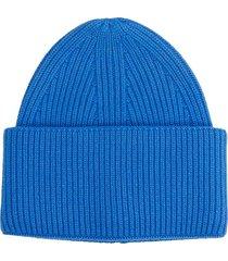 laneus hats in blue cashmere