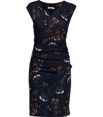 kamally india dress jurk knielengte blauw kaffe