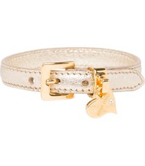 miu miu madras leather bracelet - metallic