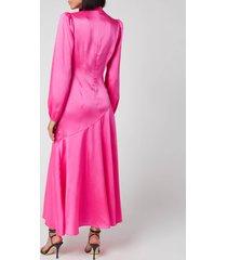 de la vali women's clara dress - hot pink - uk 10
