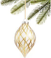 holiday lane black tie, gold glass ornament, created for macy's