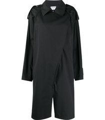 bottega veneta trench-style short jumpsuit - black