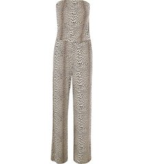 luipaardprint jumpsuit dallas  dierenprint