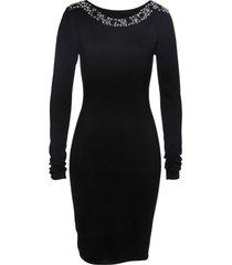 abito in maglia con perle premium (nero) - bpc selection premium