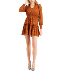 bar iii burnout ruffled mini dress, created for macy's