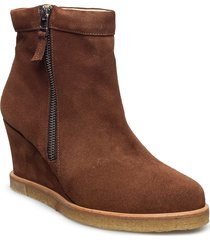 boots - wedge känga stövel brun angulus