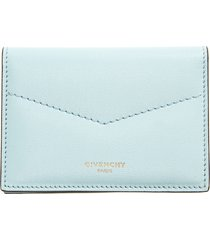 women's givenchy leather card holder - blue