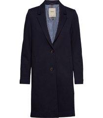 coats woven wollen jas lange jas blauw esprit casual