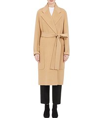 women camel belted carice oversized double-breasted wool and cashmere-blend coat
