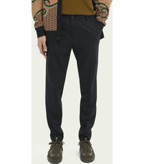 scotch & soda mott super-slim fit recycled polyester trousers